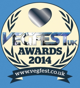 VegfestUK Awards 2014 Logo final blue background